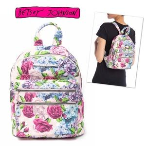🆕BETSEY JOHNSON Mini Floral Backpack